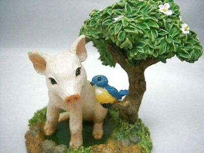 Hamilton Farm Livin' Collection Puddle Ploppin' Pig in Puddle Figurine Resin