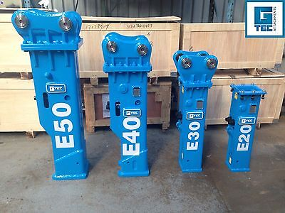 G-TEC E40 Hydraulic Rock Breaker Hammer to suit 4.5 - 7 ton Excavator Silenced