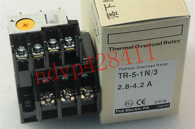 New FUJI Thermal Overload Relay TR-5-1N/3 2.8-4.2A