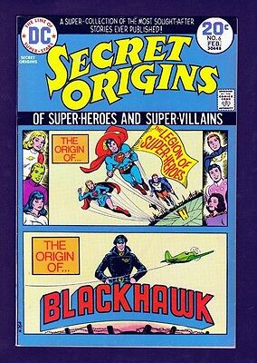 DC Comics Secret Origins #6 1973 VF- 7.5 Legion of Super-Heroes Blackhawk LI-01