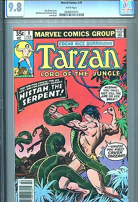 Tarzan Lord Of The Jungle #9 Cgc 9.8 White Pages Marvel Comics 1978