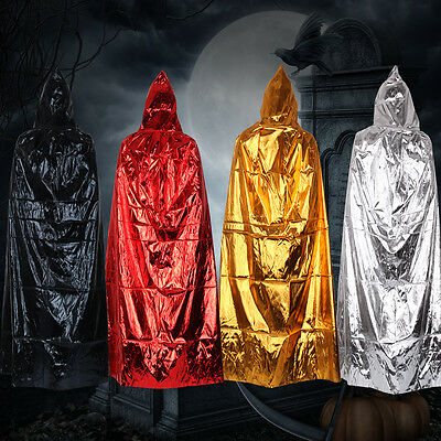 Halloween Hooded Long Cloak Wedding Cape Pagan Witch-Various Colours Wicca
