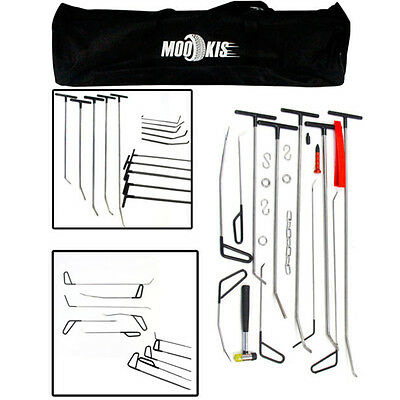 PDR Hail Remove Dent Puller Rods Kit Paintless Repair Hammer+Wedge Auto Tools UK