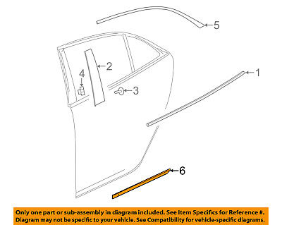 Chevrolet GM OEM 13-16 Malibu REAR DOOR-Body Side Molding Left 22798884