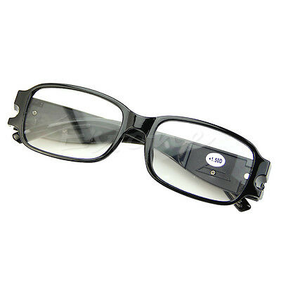 Multi Strength LED Eyeglass Reading Glasses Spectacle Diopter Magnifier Light UP
