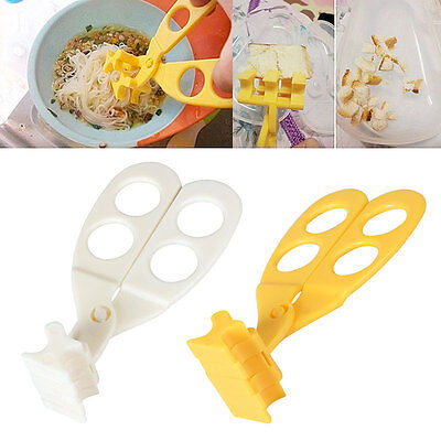 Baby Multifunctional Food Cut Scissors Safe Shear Feeding Crusher Cutter Grinder