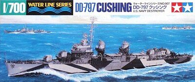 Tamiya 31907 1/700 Model Kit U.S Navy USS Fletcher-Class Destroyer DD797 Cushing