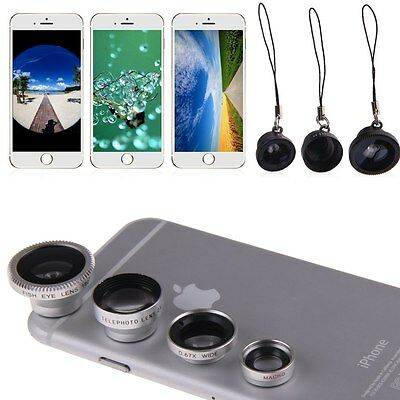 4in1 Fish Eye+Wide Angle+Macro+Telephoto Lens Camera Kit for iPhone 6S/6 Plus 5S