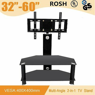 "32""-60"" Black Glass LCD LED Plasma TV Stand Mount Bracket VESA Samsung SONY LG"