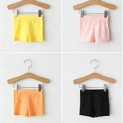 2-7Y Toddler Kids Baby Girl Short Pants Leggings Stretchy Safety Shorts Pants