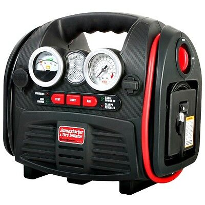 Portable Jump Start Battery Booster & Air Compressor 12V Charger & Tyre Inflator