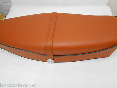 Vespa GS Style Seat in Tan Grey Piping PX PE LML T5 Classic GS GT GL Sprint
