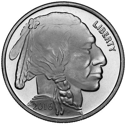 2016 Buffalo - Indian 1 oz .999 Silver Round American USA Made Bullion Coin