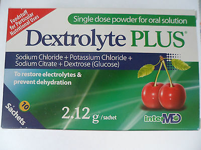 Dextrolyte Plus 10 Saches. To restore Electrolytes and Prevent Dehydration.