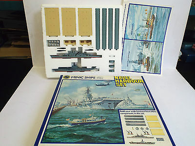 Hornby Minic Ships M906 Naval Harbour Set Nmib (Am177)
