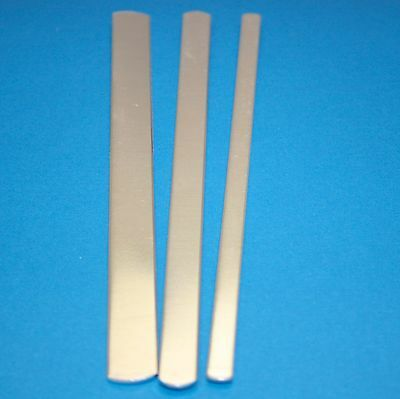 """1/4"""" x 6"""" 1100 Pure Aluminum Cuff Bracelet Stamping Blanks Choose Your Quantity"""