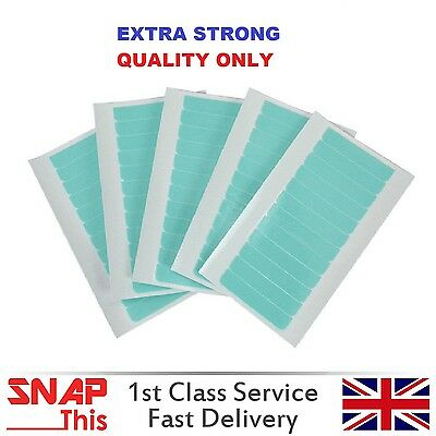 Pre-Cut Double Sided Extra Strong Adhesive Blue Tape Skin Weft Hair Extensions