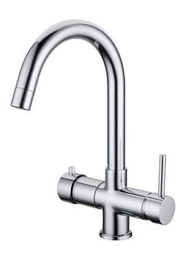 Boiling Water Kitchen Tap Instant Cold Warm Mixer Unit 3 in 1 Pack Chrome