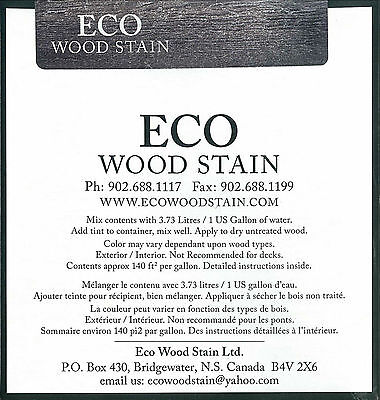 Eco Wood Stain One Gallon Weathered Wood