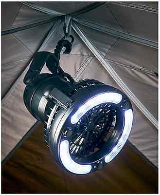 2 in 1 LED Camping Lantern Light And Ceiling Fan Flashlight Tent Outdoor Hiking