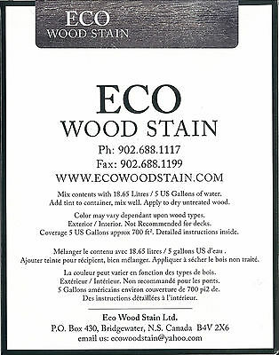 ECO WOOD STAIN 5 gallon Weathered Wood by Intl Eco Wood Treatment