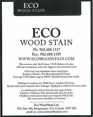 ECO WOOD STAIN 5 gallon black by Intl Eco Wood Treatment