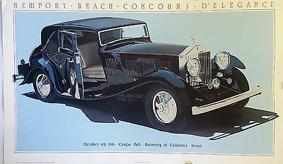 Harold Cleworth | 1933 Rolls Royce | Orig. 1985 Classic Car Poster