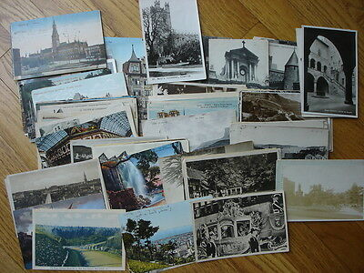 A856 (112) Pre WWII Foreign Postcards, Mostly Used