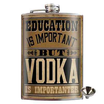 Vodka Stainless Steel Hip Flask Gift Whiskey Novelty Bar Drink Alcohol Humour