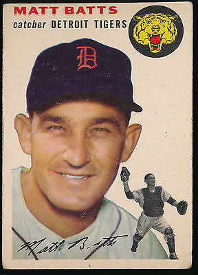 1954 Topps #88 Matt Batts - Detroit Tigers - VGEX - (C01)