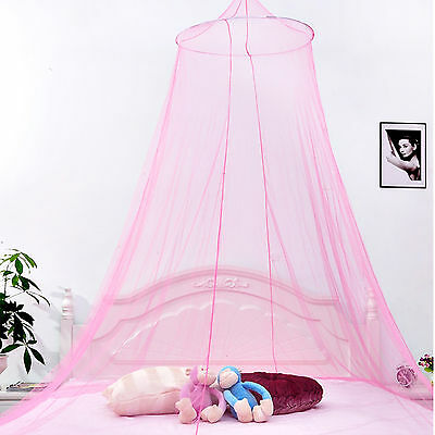Elegant Round Lace Canopy Bed Netting Mosquito Net Full Queen King Size Bedding