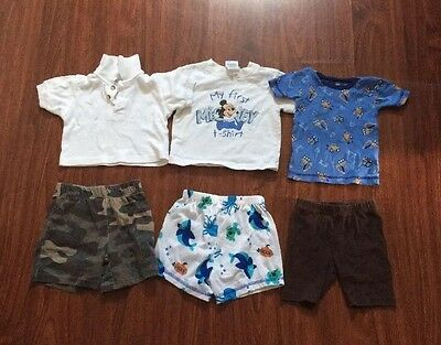Baby Boys Mixed Items Lot Size 12,18,24 Months Shirts Shorts
