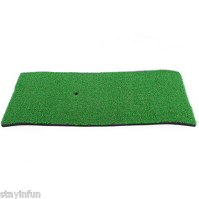 Artificial Grass Golf Exercise Mat Swing Hitting Pad Indoor Sport Kit