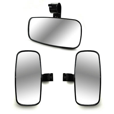 "2"" Side and Rear View Mirror for Can Am Commander Maverick Polaris RZR XP1000 4"