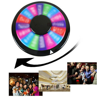 "12"" Tabletop Color Prize Wheel of Fortune16-Segment Carnival Spin Game Show"
