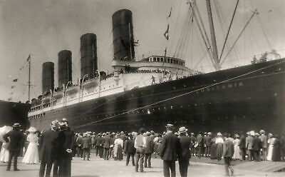 RMS Lusitania New York 1907 Cunard Line Ocean Liner Travel Photo Print Poster