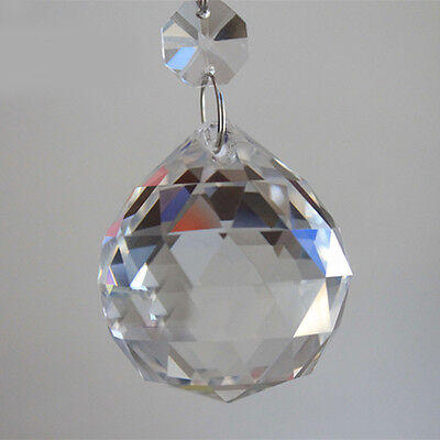 Cool 1PC Clear Crystal Feng Shui Lamp Ball Prism Rainbow Sun Wedding Decor 20mm