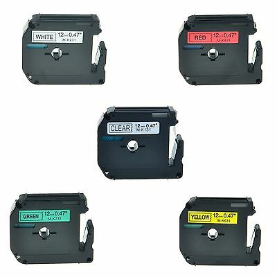"""5PK MK 131 231 431 631 731 Label Tape for Brother P-Touch PT-80 Printer 1/2"""""""