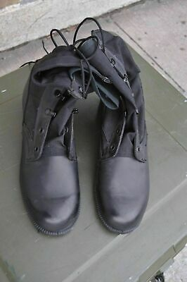US Army JUNGLE BOOTS Spike Protective Men's 14 R  Black Water Resistant NEW