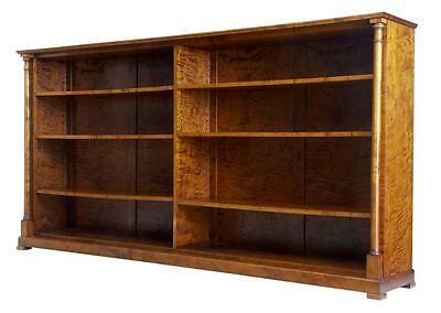 Large Late 19Th Century Birch Open Bookcase