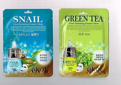 YJMAM Moisture Skin Care Snail Facial Essence Mask Pack Sheet 2pc Korea Cosmetic