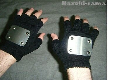 BEST KAKASHI NINJA GLOVES Fingerless looks like Naruto Anime Anbu Cosplay Larp