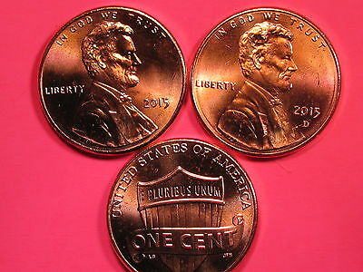 2015 P&D - Lincoln Shield Cent Set - Brilliant Uncirculated Gems
