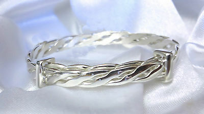 4 Sizes Baby Childs Quality Handmade Celtic Sterling Silver Bangle Christening