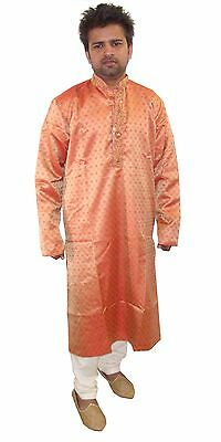 Burgundy Men Kurta Pyjama  w matching Dupatta Ethnic Indian wear