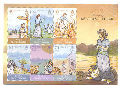 Alderney-Beatrix Potter min sheet mnh -literature