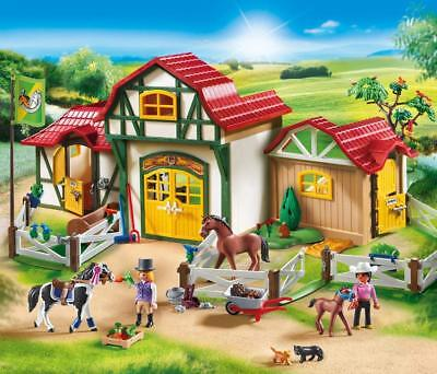 Playmobil 6147 Horse Paddock with Vet and Horse Box Super Set Country Farm