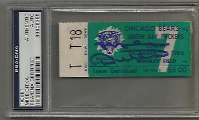 Mike Ditka signed autographed 1968 Bears Green Bay Packers Ticket Stub PSA/DNA