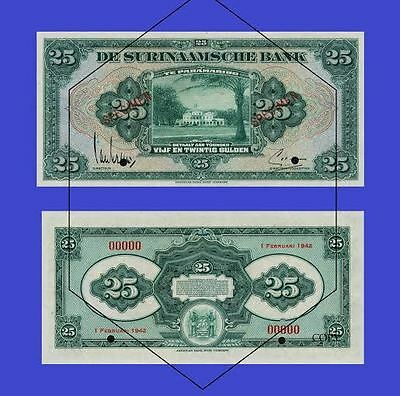 Suriname 25 Gulden 1942 .  UNC - Reproductions