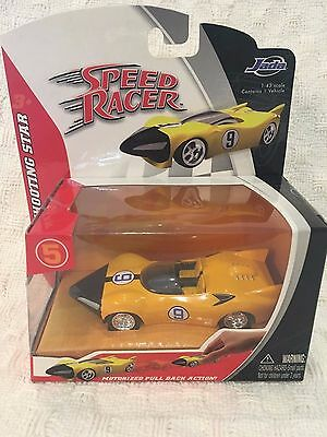 Speed Racer 2007  Shooting Star  Motorized Pull Back Action JADA 1:43 scale NEW